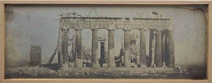 Joseph-Philibert Girault de Prangey  Athènes, Parthénon. 1842  daguerreotype