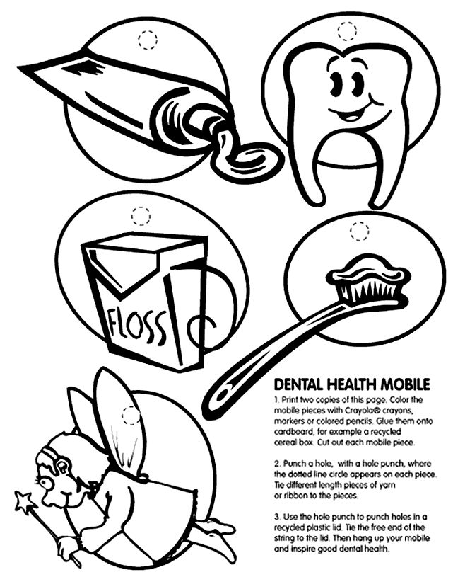 Dental Health Coloring Pages For ChildrenHealthPrintable