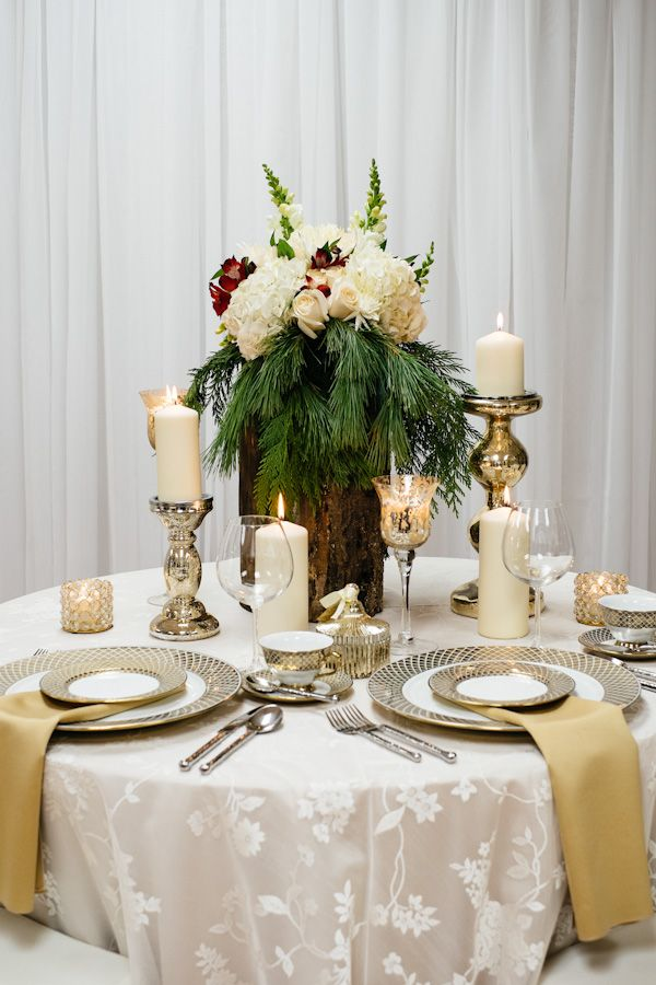 holiday wedding decor
