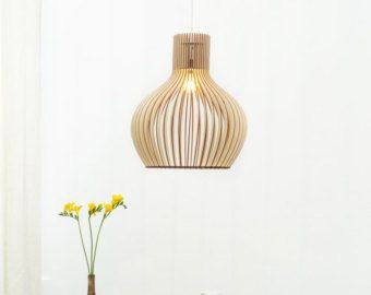 Scandinavische stijl houten hangende lamp / door SweetDreamIdeas