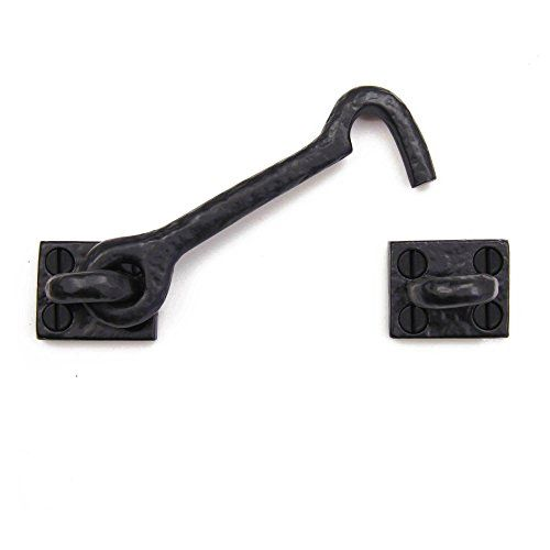 Iron Valley - 4.5'' Cabin Hook - Cast Iron - A Solid Cast Iron Cabin Hook / Latch that can be used as a decorative and useful latch for cabinets, gates, doors, garages, barns, sheds, and more. It is used to manually lock and close a variety of doors and hinged products.