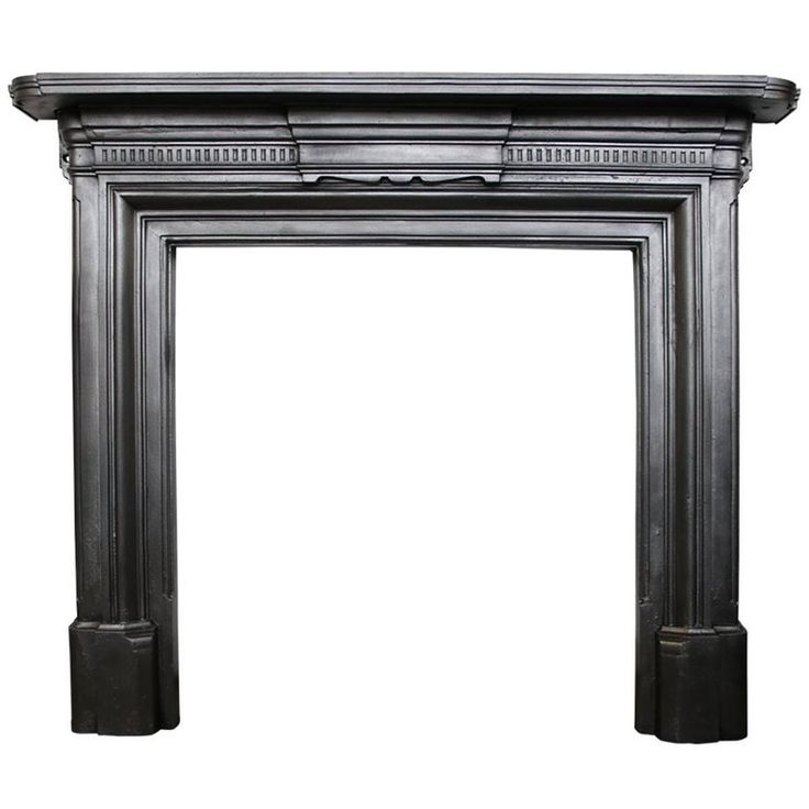Late 19th Century Victorian Cast Iron Fireplace Surround | From a unique collection of antique and modern fireplace tools and chimney pots at https://www.1stdibs.com/furniture/building-garden/fireplace-tools-chimney-pots/