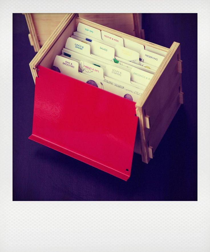 THE BOX - Ripe Recipes  comes with the choice of lids - French White, Beautiful Green, Bright Red, Bright Yellow