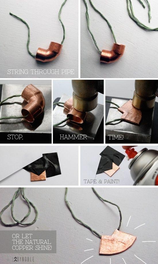 Diy Copper Pipe Necklace | Lekker slaan met een hamer