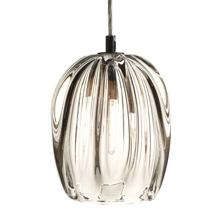 Thick clear barnacle barrel pendant · hamptons bedroompark citypendant lightscordpendantsglasseslightingpolished