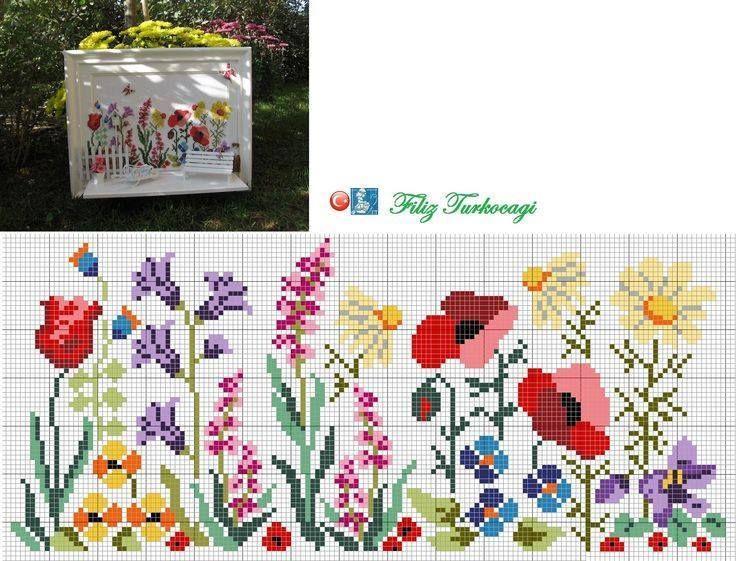 Flower border pattern