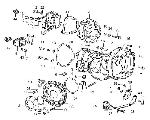 Diagram 4 VW Swing Axle Type 1, 2 & 3 / Housings