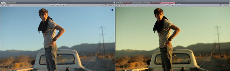Before&After - Sunset Basic Color Grading.