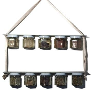 Junk Yard Chic industrial old fashioned rustic magnetic spice rack - eclectic - small kitchen appliances - boston - Cafe Primrose