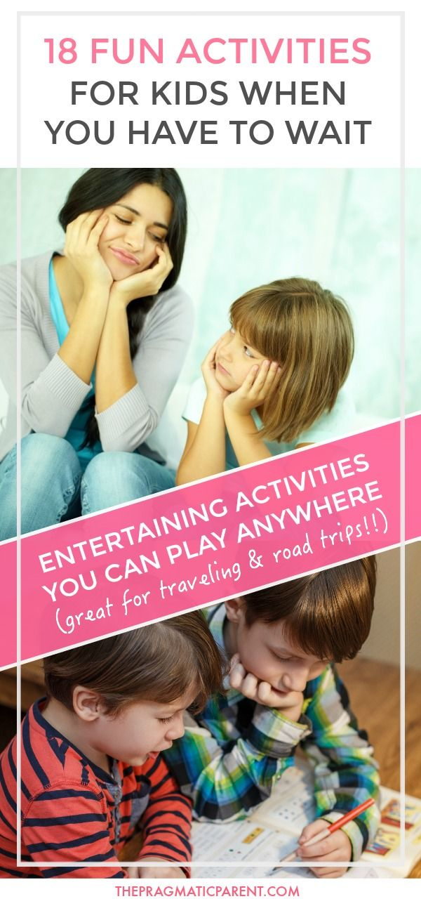 18 fun & entertaining kid-approved waiting games you can pull out on the go to help pass the time when you're waiting with your kids. Waiting with kids can be hard, and sometimes hair-pulling, but these games make waiting with kids enjoyable and time passes much quicker. Entertaining activities you can play anywhere and great for traveling and road trips!