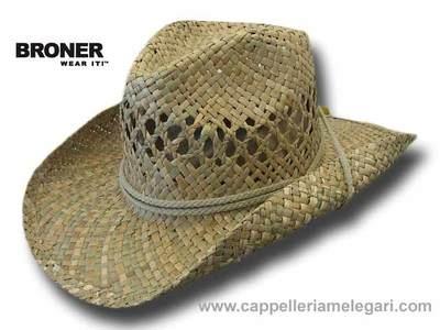 Cappello Western Cow Boys Carson City Broner raffia Hat 2