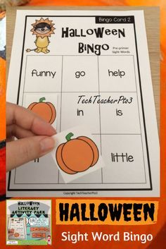 Pre Primer Sight Word Bingo Game. Perfect for literacy rotations or centers (centres) in early primary school or kinder. #teacherspayteachers #halloween #classroom #literacycenters #earlyprimary #teaching