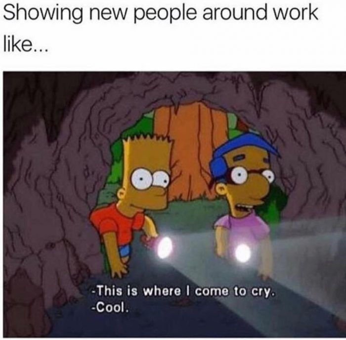 If I Had To Cry I Used A Back Stairway Or An Exam Room That Never Got Used They Were My Secret Gotfunny Funny Birthday Meme Work Memes Work Humor