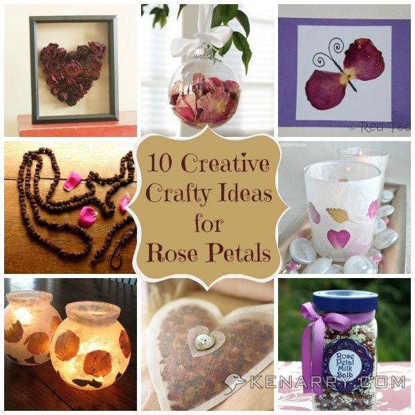 17 best ideas about rose petals craft on pinterest rose - Crafts with flower petals ...