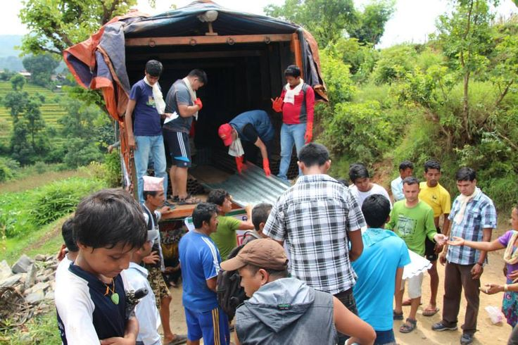 On Saturday the team heading out to Mahadeveshi, Dhading with relief for 100 families. This was a huge challenge, the truck was very heavy with the weight of all the tin and iron poles along with 3,000kg of rice!   #gvi #nepal