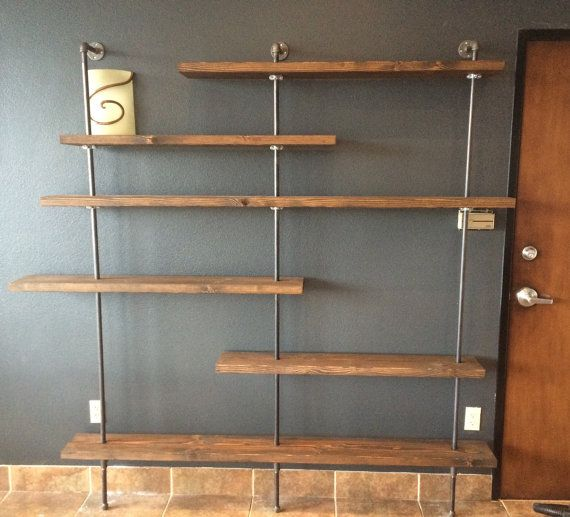 Industrial bookshelf by AllOverABoard on Etsy