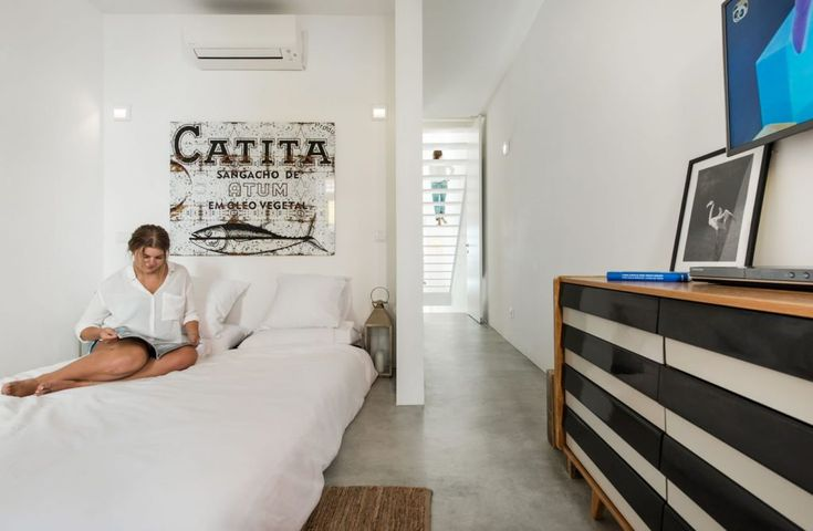 """The """"multi-functional"""" room in use as double bedroom – with Lubi sofa bed (1.60m x 2.00m) by Kurt Brandt"""