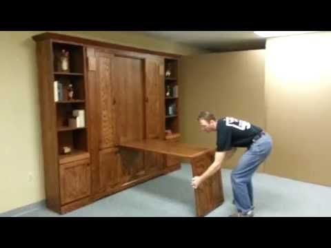 Shaker Murphy bed but in white