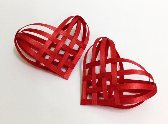 A Pair of Red Ash Hearts by Baskauta27 on Etsy, $14.00
