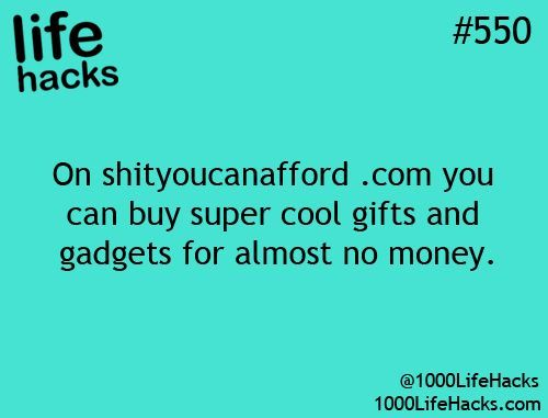 1000 Life Hacks, there are some really funny items on here