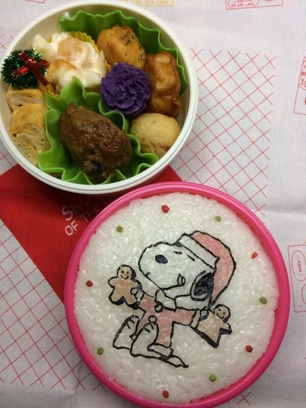 posted from @namimocchi 本日の部活弁当。#obentoart #snoopy