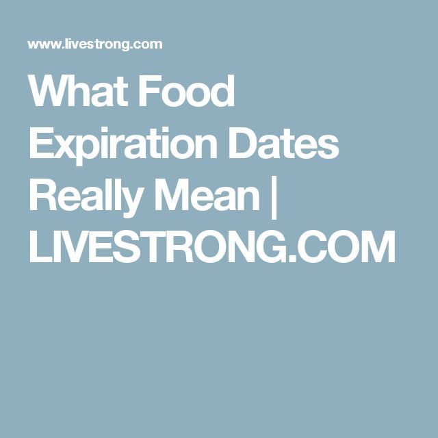 What Food Expiration Dates Really Mean | LIVESTRONG.COM
