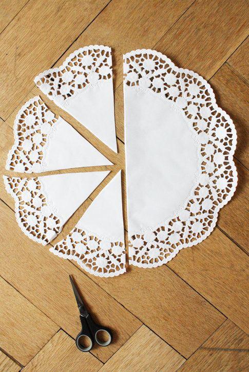 DIY Osterdeko: Osternest basteln aus Tortenspitze