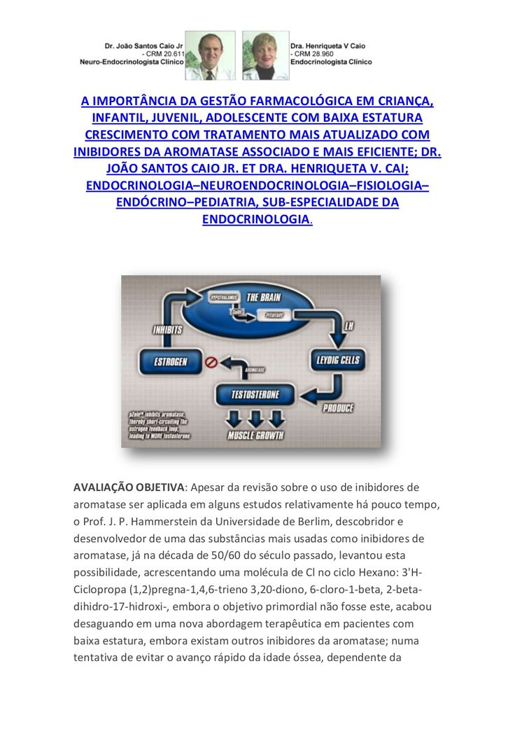 Gestão farmacológica baixa estatura infantil,juvenil;importância inibidora da aromatase by VAN DER HAAGEN via slideshare
