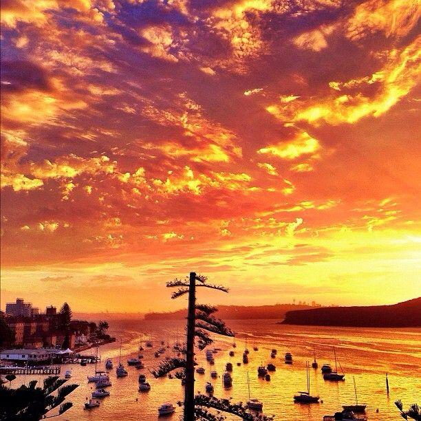 sunset over Manly, #Sydney #Australia
