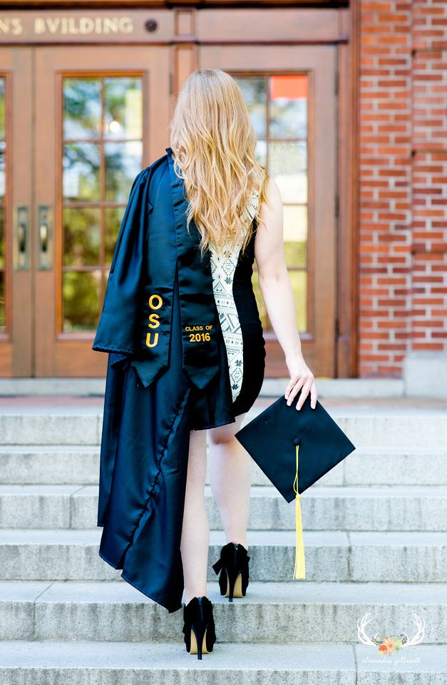oregon photographer, senior pictures, college graduation, grad photos, oregon state university, cap and gown, alexandra galbreath photography