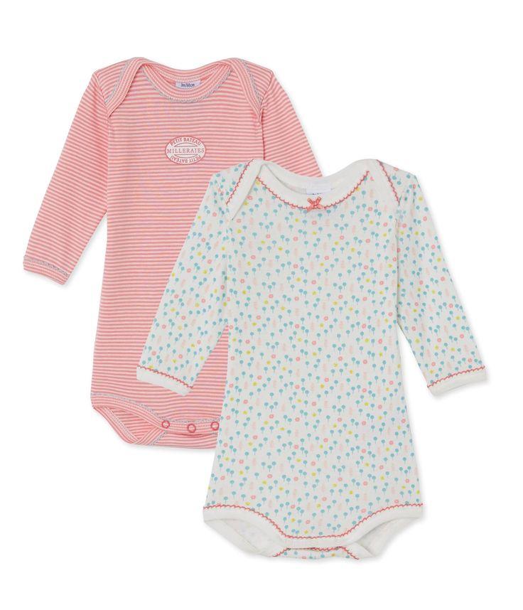 Lot de 2 bodies bébé fille manches longues Rose. Retrouvez notre gamme de vêtements et sous-vêtements pour bébé, enfant, mode femme et homme.