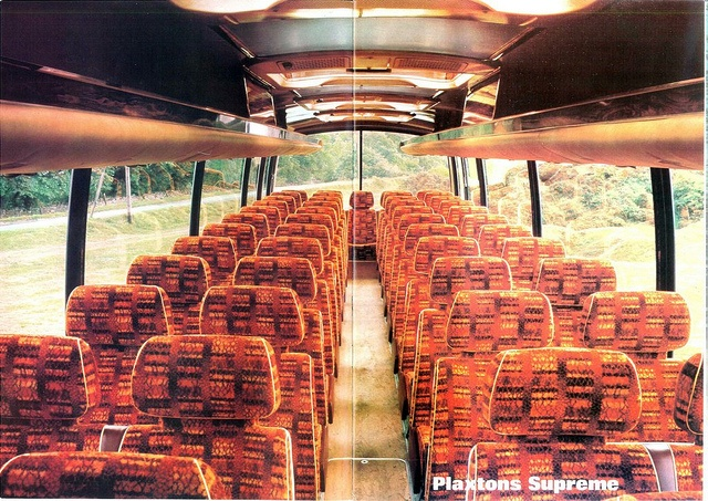 School trips were always in coaches like this.