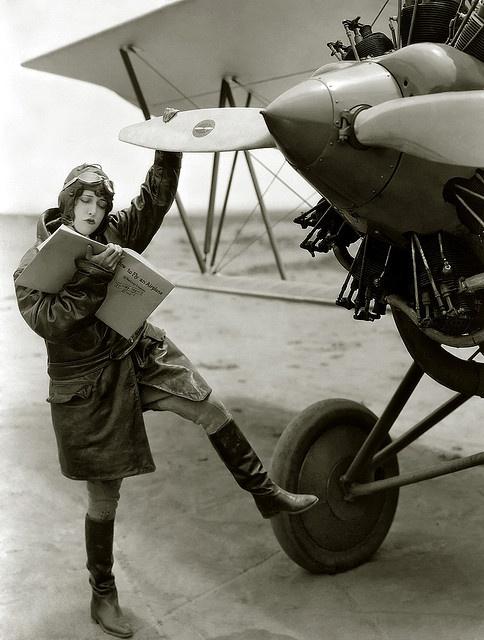 dorothy sebastian pilot, 1929 by carbonated,