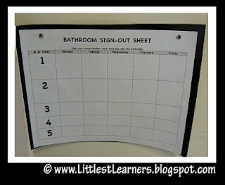 Bathroom Sign Out Ideas 122 best classroom ideas images on pinterest | school, classroom