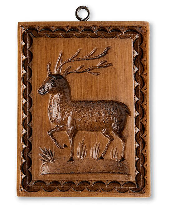 """The Buck Cookie Mold has an aura of strength and individuality, size approximately 3 by 6 inches. Item No. M116 Each mold is sold individually and comes with a recipe book """"Too Pretty to Eat"""" publishe"""