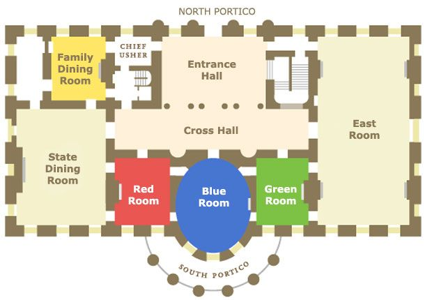 The White House, inside layout | The White House ~ Inside