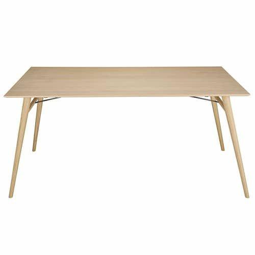 Tavolo per sala da pranzo in legno massello di quercia francese L.180 cm