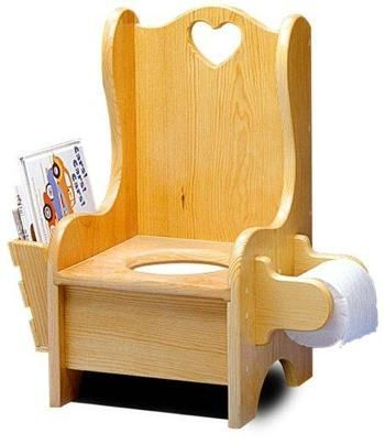 R14-1322 - Childrens Potty Chair Vintage Woodworking Plan: