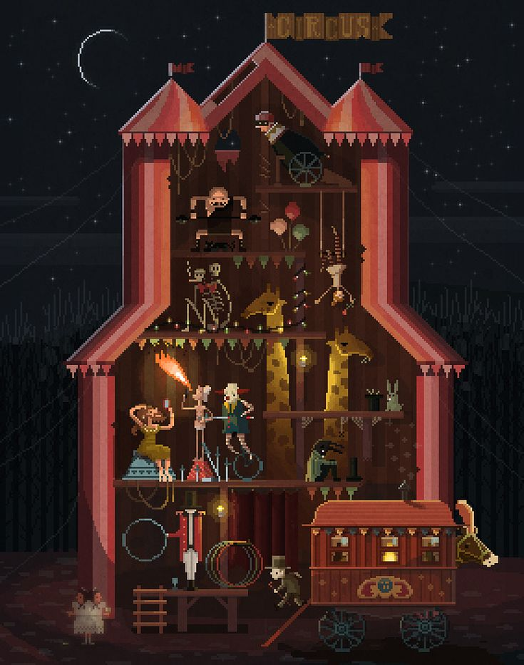 Midnight Carnival Pixel Art by octavinavarro on deviantART