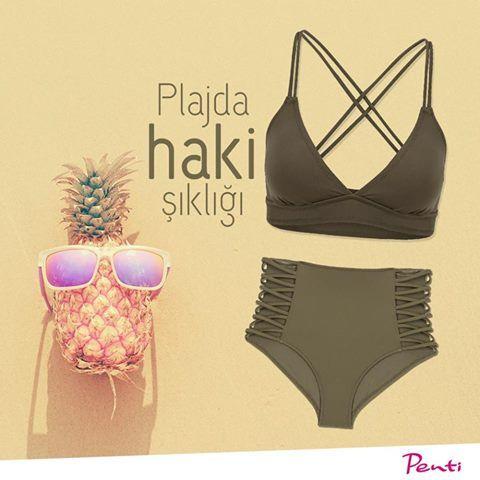 Sezonda kalbini çalacak trend rengi Haki, plaj sezonunun yeni gözdesi!🍍 #hepbenimle #plaj #summer #zaferplaza #zaferplazaavm #penti