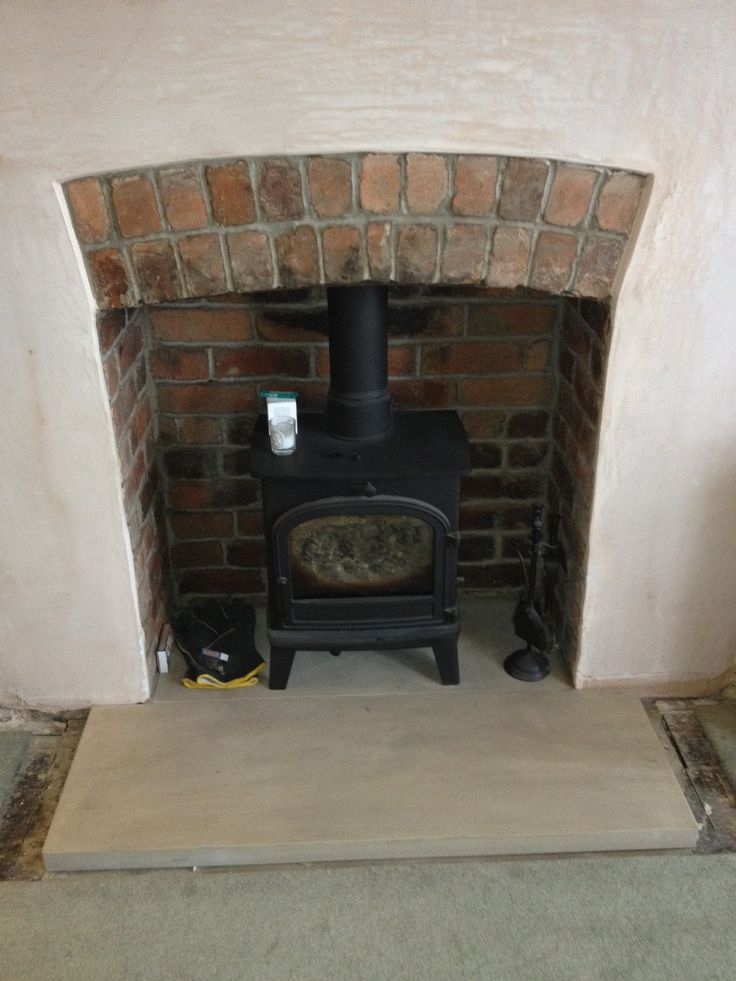 plaster and exposed bricks fireplace - Google Search
