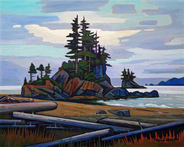 """""""Brady's Beach,"""" by Nicholas Bott - 24x30"""