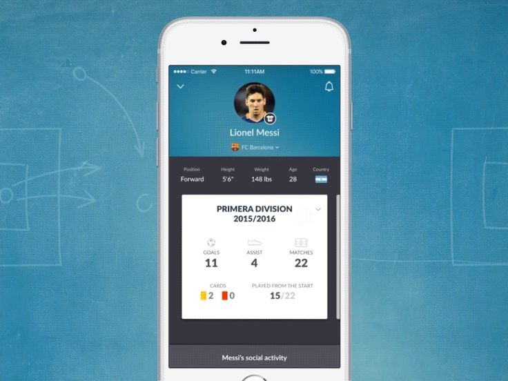 Football App Interactions by Ramotion
