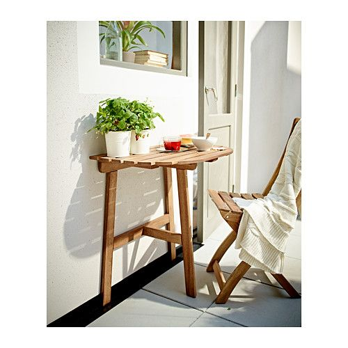 ASKHOLMEN Wall table & folding chair, outdoor  - IKEA