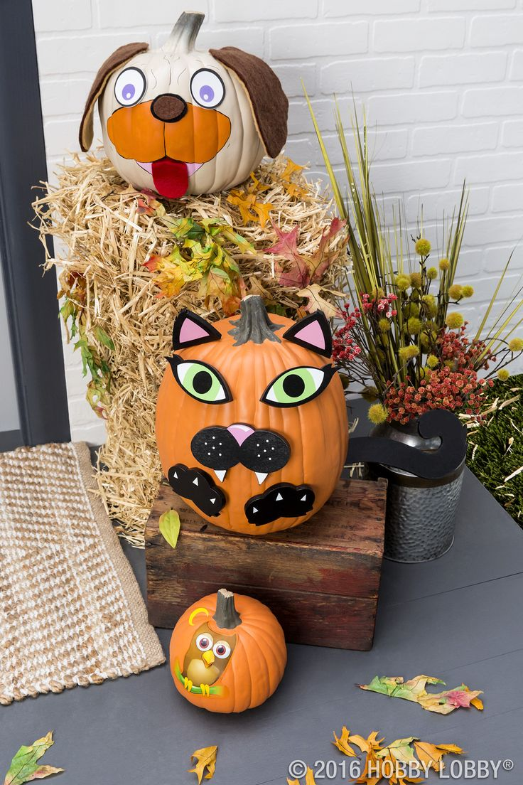 less mess means more fun with faux pumpkins carvable and cute these easy fall decorationshalloween - Cute Halloween Decor