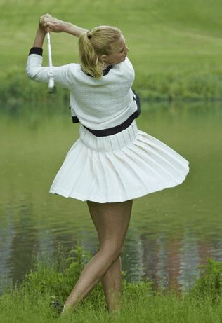 None of our tour members ever swung like this! Jodie Kidd, Ambassador of Brocket Hall Golf Club Courtesy of Golf Punk Magazine.