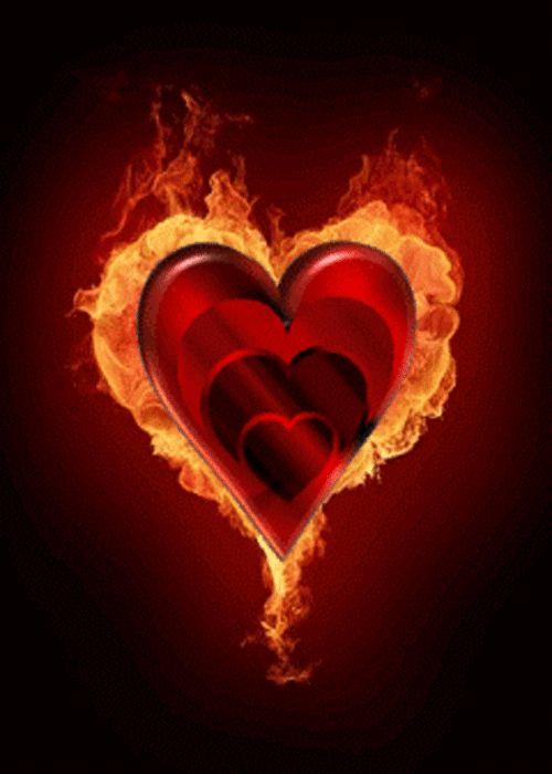 многие гифка сердечко в огне ангара бураном