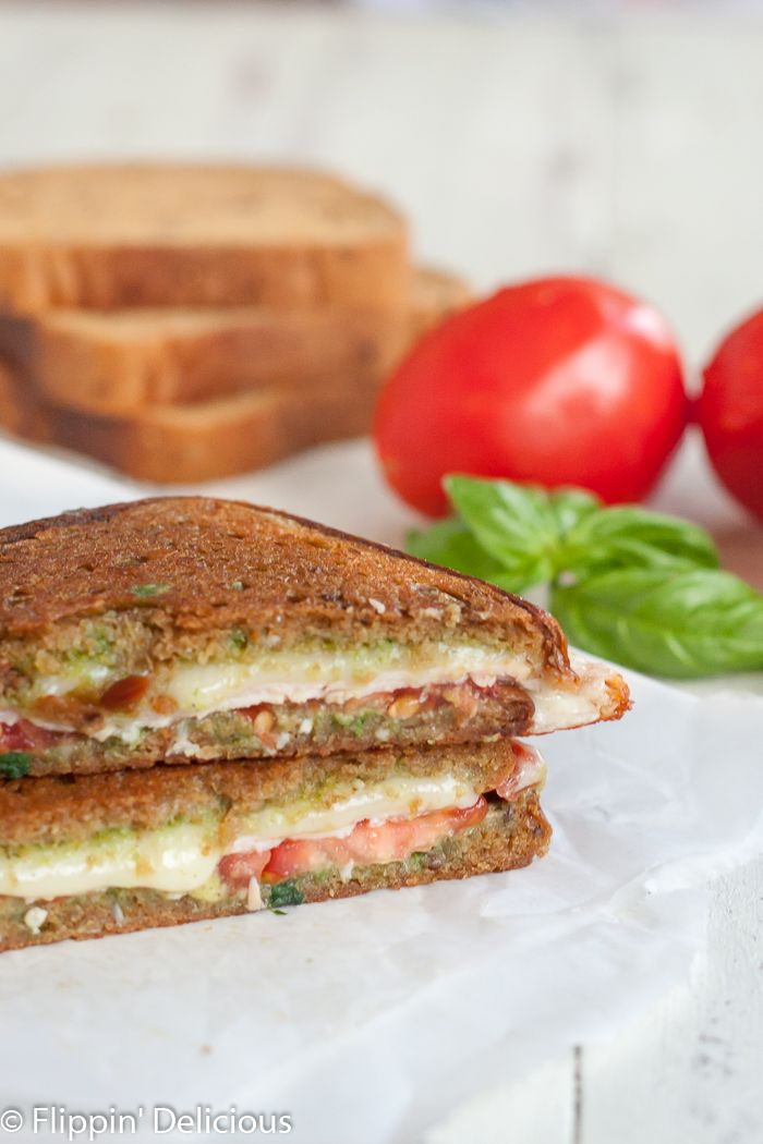 Gluten Free Caprese Panini  made with @scharglutenfree 10 Grain and Seed bread #ScharYourBest AD