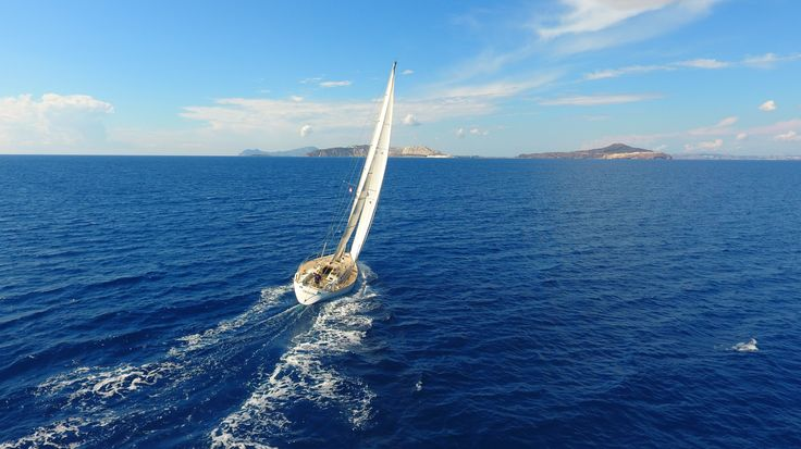 Sailing to Nisyros Island Greece