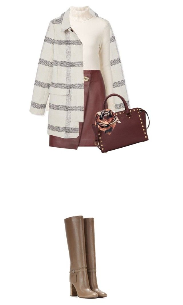 """Hot Color Trend: Oxblood"" by fashionbrownies ❤ liked on Polyvore featuring Tory Burch, Chloé, Reiss, MICHAEL Michael Kors, Joanna Allsop and oxblood"